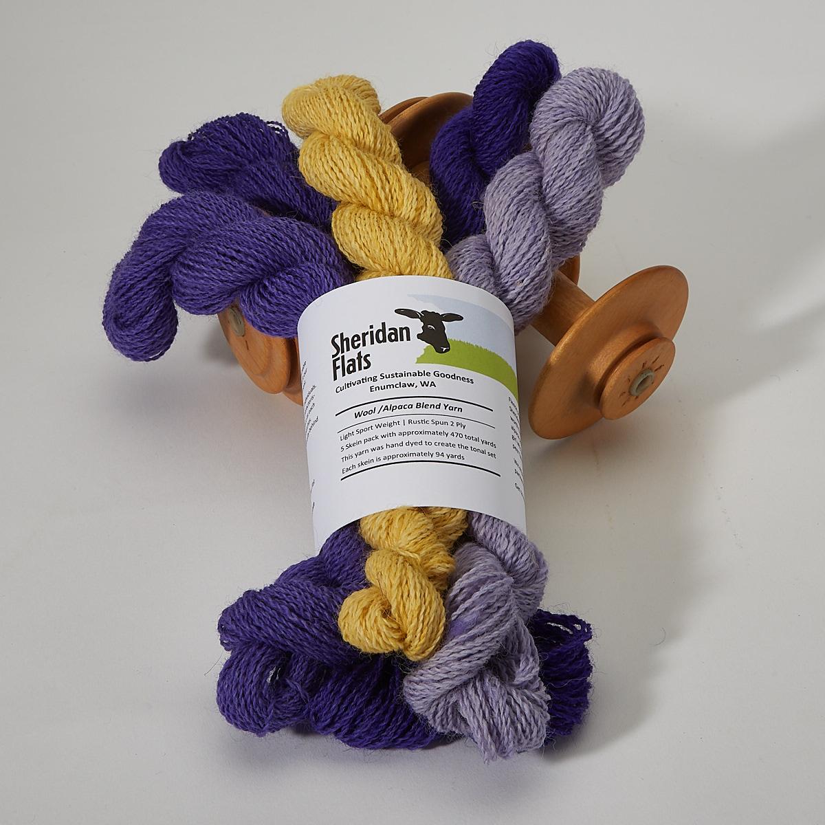 Wool Yarn by Naomi Purple Tones